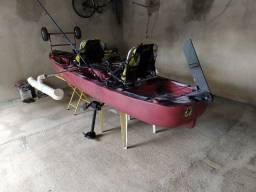 Caiaque Caiaker Mero Duplo C/ 02 Smart Pedal - Cor Camuflado Vermelho
