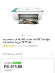 Vendo Multifuncional HP 2676 Nova no Plástico + Cartucho Novo