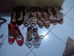 6 calçados femininos número 35
