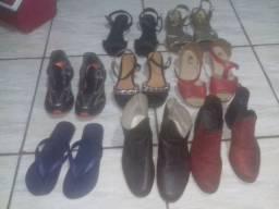 Lote 15 calçados femininos 37 por 99$td