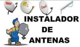 Instalação de antenas via satélite em geral