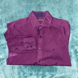 Camisa social mangas compridas