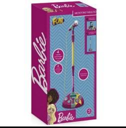 Microfone karaokê  fabuloso barbie