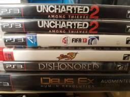 Jogos Playstation 3 pouco usados
