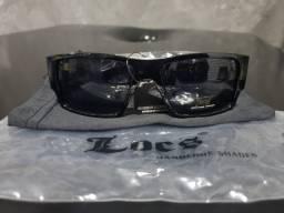 Óculos Locs 91085 Gloss Black Cholo Lowrider Old School