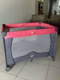 Berço Cercado Compacto Baby Style 116810C - Até 18kg - Rosa