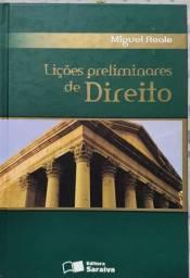Livro Lições Preliminares de Direito 27a edição 10a tiragem