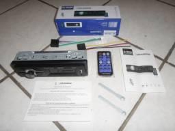 Aparelho Roadstar (Bluetooth, entrada USB, cartão SD, Auxiliar, rádio FM) Novo, sem uso