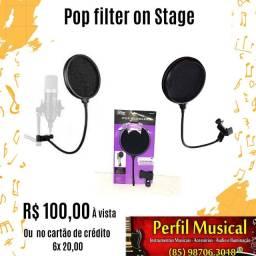 Pop filter on Stage em promoção fazemos entregas