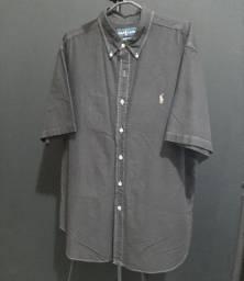 Camisa Ralph Lauren XXL preta - rasgada.