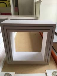 Trio de nichos quadrados