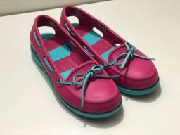 Docksider, marca crocs, tamanho 36, Pink e Azul Claro