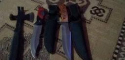 Coleçao de facas e machadinha