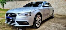 Audi A4 Ambiente Turbo 2.0 Baixa km 53mil, Couro, Teto Solar, Aro 20, 2021 OK! AC Troca