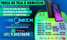Troca de tela na hora ( Atendemos á Domicílio ) Motorola / Garantia / Loja /