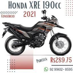 Honda XRE 190cc 2021 / Consórcio