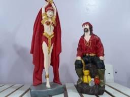 Casal de ciganos - Imagem em gesso