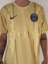 Camisa Treino PSG Dourada 1 linha naciona
