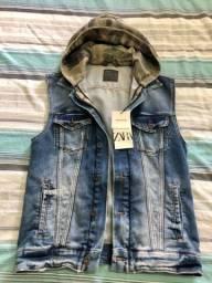 Jaqueta jeans com capuz Zara P