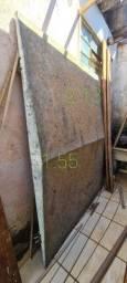 Cobertura de armação de ferro com galvanizado