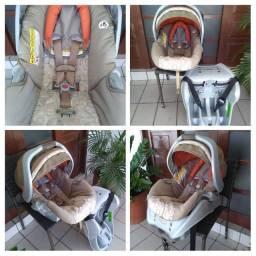 Cadeira Bebê Conforto Super Luxo Anti-Impacto Graco SnugRide + Base Isofix Higienizado