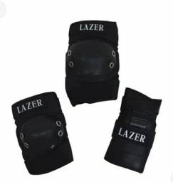Kit protetor de punhos, cotovelos e joelhos