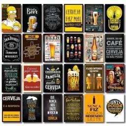 Título do anúncio: Kit 24 Quadros Decorativos Cerveja