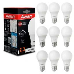 10 Lampadas de led 9w 6500k branco frio avant
