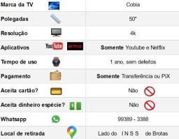 """Smart TV Marca Cobia 50 """" polegadas"""