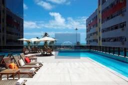 Flat com 1 dormitório para alugar, 38 m² por R$ 3.500/mês - Boa Viagem - Recife/PE