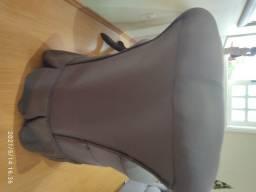 Divã + 2 poltronas em tecido marrom
