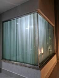 Janela de vidro temperado 4 folhas 2,0x2,0