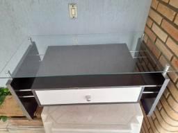 Mesa de centro de vidro com gaveta - semi nova - Liquidação