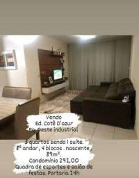 Título do anúncio: Apartamento à venda, 89 m² por R$ 250.000,00 - Parque Oeste Industrial - Goiânia/GO