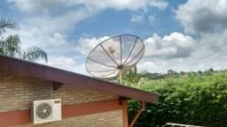 Kit Antena Parabólica + 2 receptores