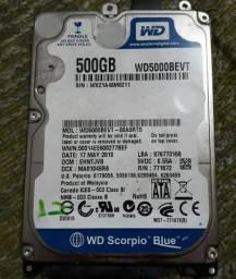 HD 500 GB Notebook, aceito proposta