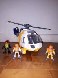 Helicóptero de resgate Imaginext Fisher-Price