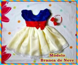 Vestidinho Infantil Branca de Neve