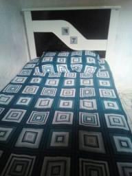 Desapegando.cama solteirão linda preto com branco,acompanha colchão,aproveite 350 reais