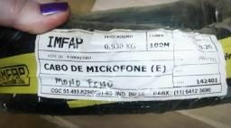 Rolo Fio Tiaflex Microfone Mono Fino 0.20m/m