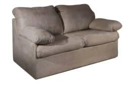 Sofá cama de casal com estrutura metálica