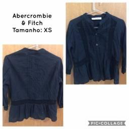 Blusa Abercrombie azul marinho