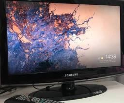 Tv Monitor 22 Polegadas Samsung C/ Conversor Embutido