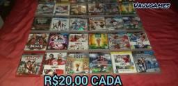 Jogos originais de PlayStation 3 semi novo entrego e parcela até 12x