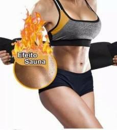Cinta térmica modeladora unissex efeito sauna!