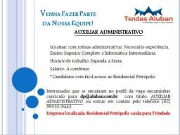 Vaga: Auxiliar Administrativo