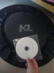 Mini cama de jump KL + capa protetora + DVD com aulas