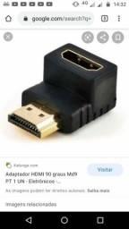 Adaptador de cabo HDMI 90 grau