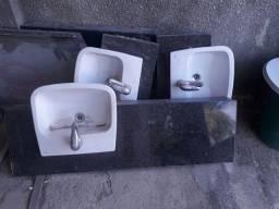 Lavatórios de granito completos