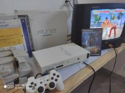 PS2 FAT branco JP na caixa